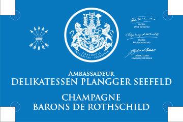 Ambassadeur Delikatessen Plangger Seefeld Champagne Barons de Rothschild