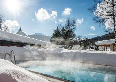 DAS HOTEL EDEN****S - Pool im Winter, Richtung Panoramasauna