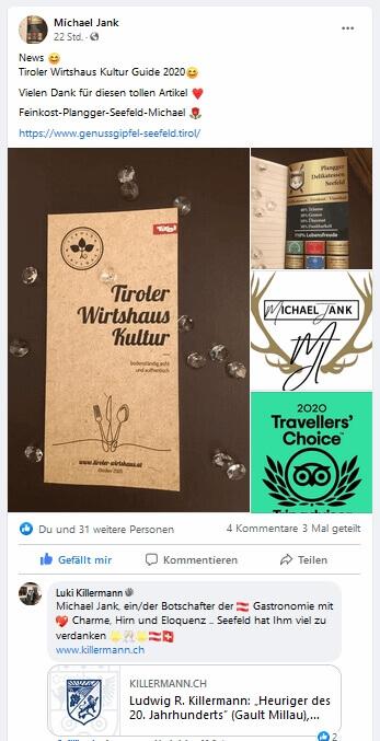 Referenz von Luki Killermann - Michael Jank, ein/der Botschafter der Gastronomie