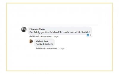 Referenz von Elisabeth Gürtler auf Facebook