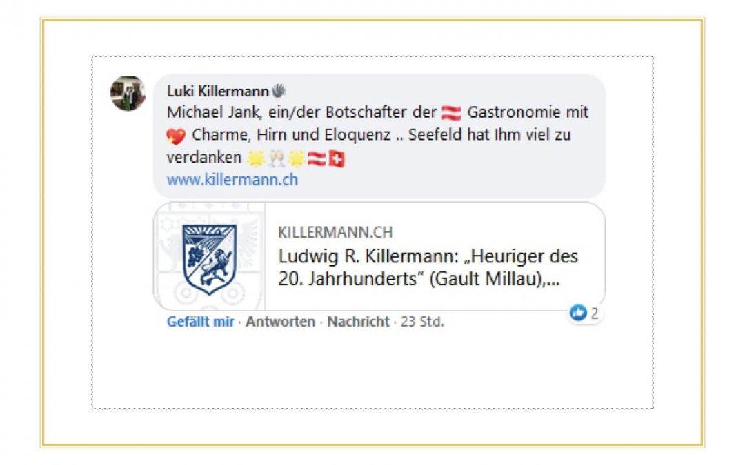 Referenz von Luki Killermann - Michael Jank ein/der Botschafter der Gastronomie