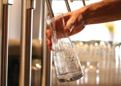 Wellwasser-Wasser-zapfen