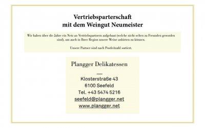 Vertriebspartnerschaft mit dem Weingut Neumeister