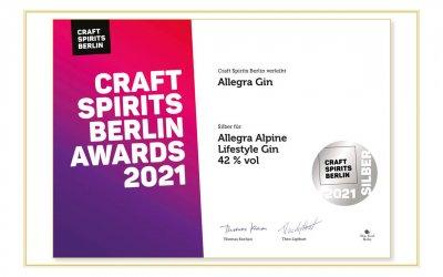 Craft Spirits Berlin verleiht Allegra Gin Silber