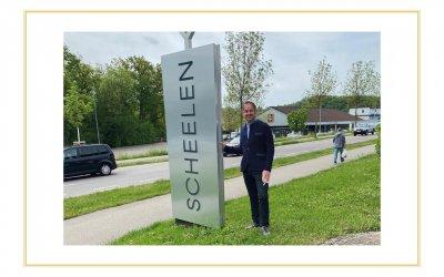 Betriebsbesichtigung bei der SCHEELEN® AG in Deutschland