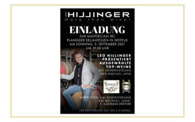 MASTERCLASS mit Leo Hillinger bei Plangger Seefeld